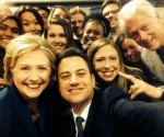 Hillary Clinton, Jimmy Kimmel, Chelsea & Bill Clinton