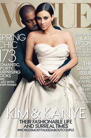 "Kanye West & Kim Kardashian @ ""Vogue"""