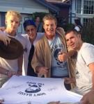 Cody Simpson, Justin Bieber, David Hasselhoff & Emile Nava