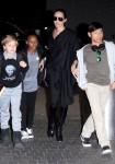 Shiloh, Zahara, Angelina Jolie & Pax