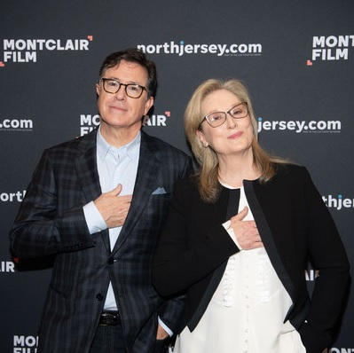 Stephen Colbert (54) & Meryl Streep