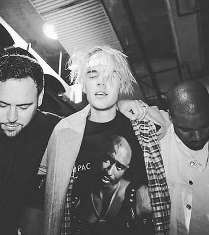 Scooter Braun, Justin Bieber & Kanye West