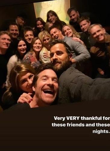 Jennifer Aniston, Jimmy Kimmel & Justin Theroux (c.)