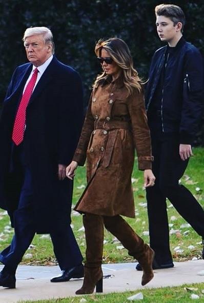Donald, Melanie & Barron Trump