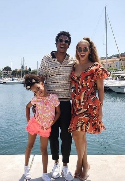 Blue Ivy, Jay-Z & Beyoncé
