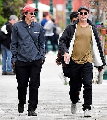Saul Fletcher & Brad Pitt